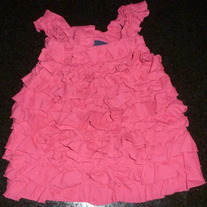 Hot Pink Sleeveless Ruffle Dress-Baby Gap Size 6-12 Months