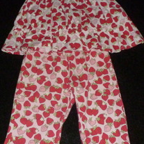 Strawberry Pants and Matching Sleeveless Top-Gymboree Size 12-18 Months