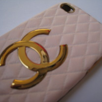 New Luxury Fashion Designer Pink Sheep Leather iPhone 5 Case