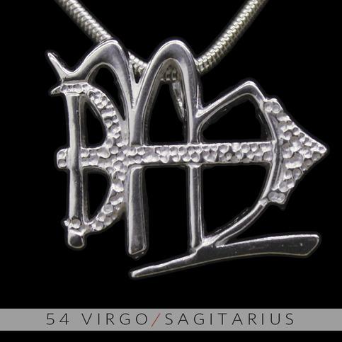 The Virgo And Sagittarius Silver Unity Pendant On Storenvy