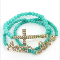 Cross Love Amor Bracelet Turquoise
