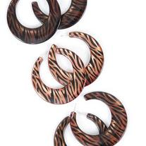 Zebra Print Hoop Earrings