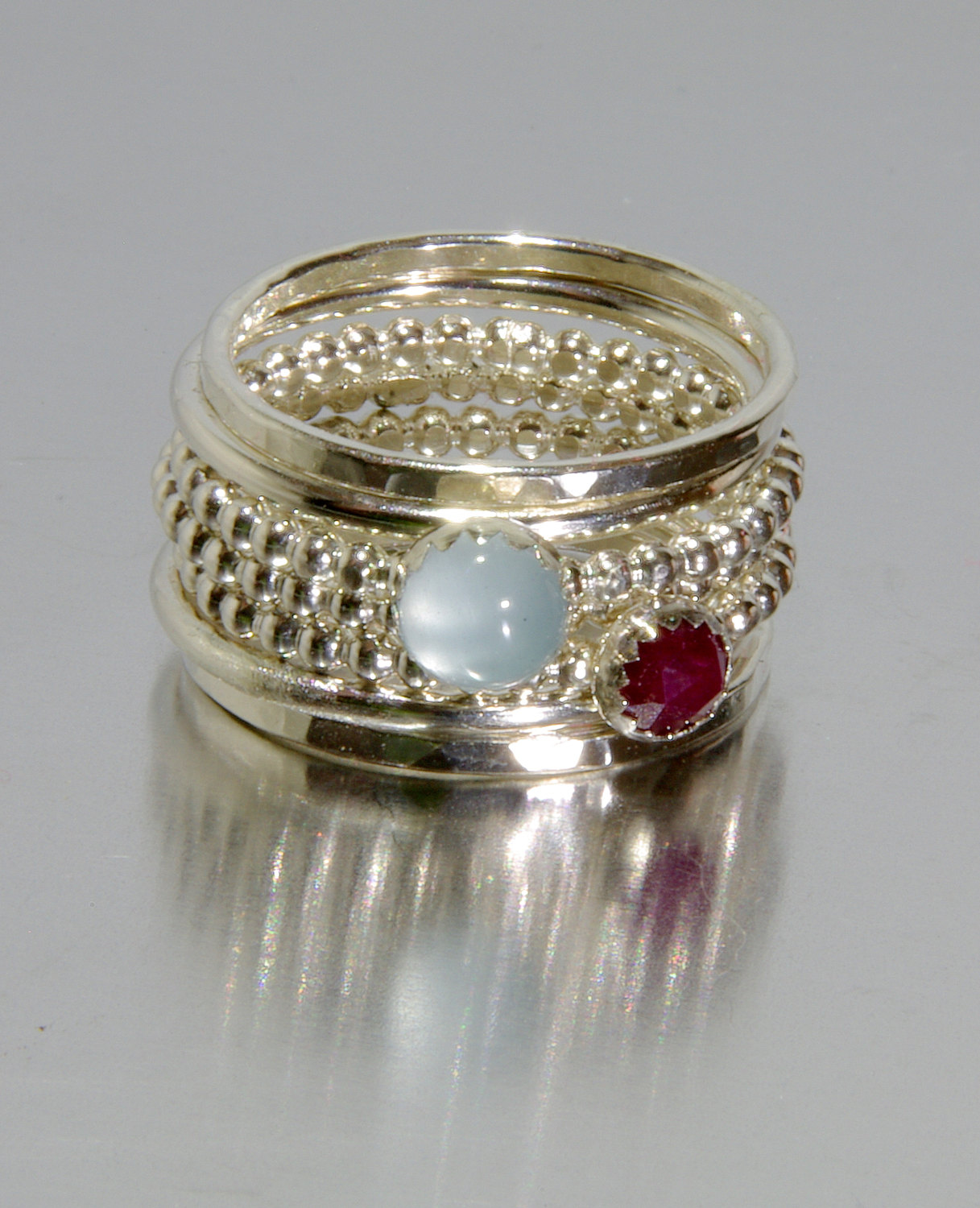 about birthstone ring gold princess rings march crown details heart aquamarine itm