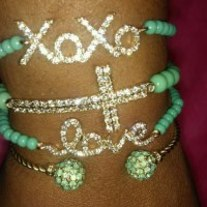 Mint Love Stack Bracelets