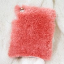 New Chic Rose Pink Synthetic Fur iPad Mini Case Cover