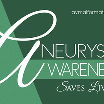 """Aneurysm Awareness Saves Lives"" Sticker (Green)"