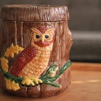 Kitchy Owl Cookie Jar