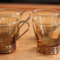Retro Glass Mugs Set