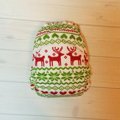 Fairisle holiday sweater - red