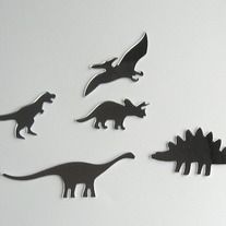 Objectify Dinosaur Mirrors - Set of 5