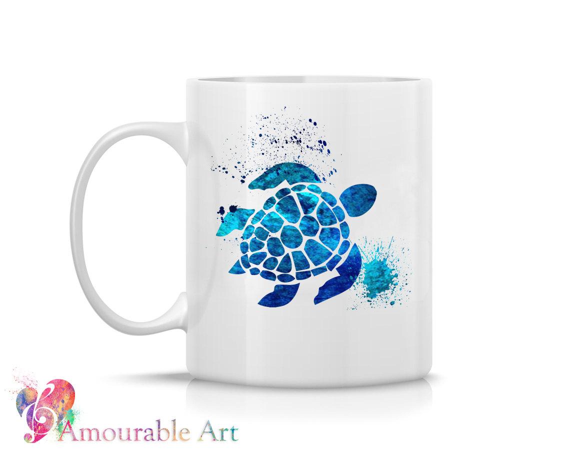 Unique Coffee Mugs Online Part - 46: Coffee Mug, Ceramic Mug, Sea Turtle Mug, Unique Coffee Mug Gift, 11oz
