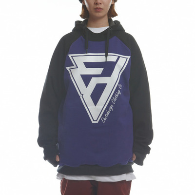 [season off sale] ehoto ski & snowboard initial hoodie - purple