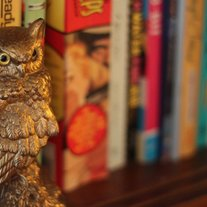 Golden Owl Bookend/Statue