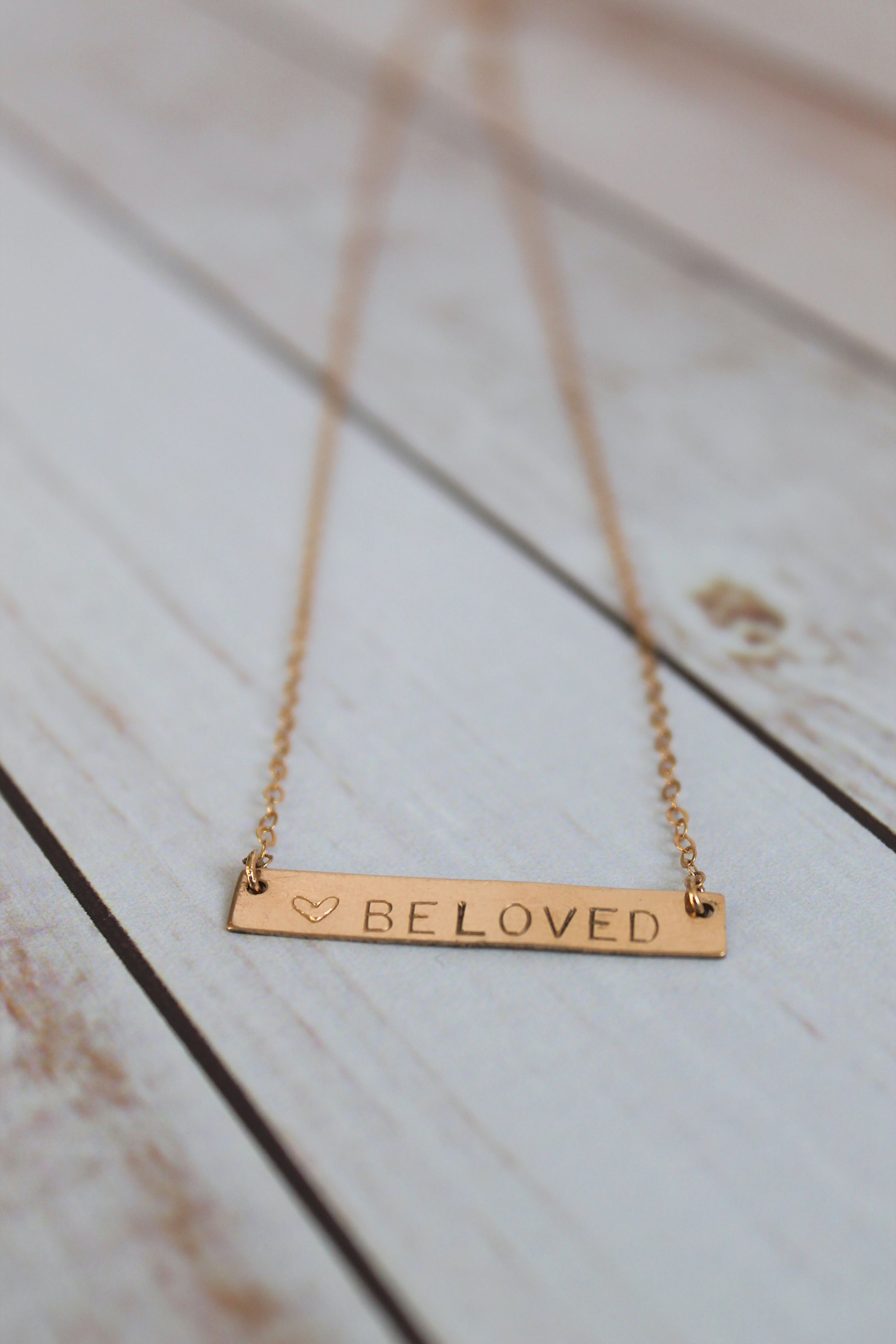 nancy stamped the horizontal products gold necklace hand personalized bar filled original beloved
