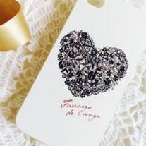 New Chic Lace Heart iPhone Hard Case Cover