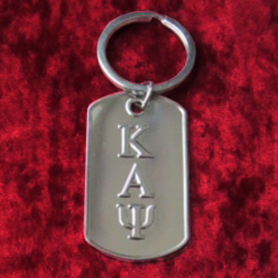 Kappa alpha psi dog tag keychain