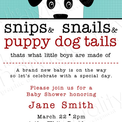 Puppy dog tails invite (10pk)