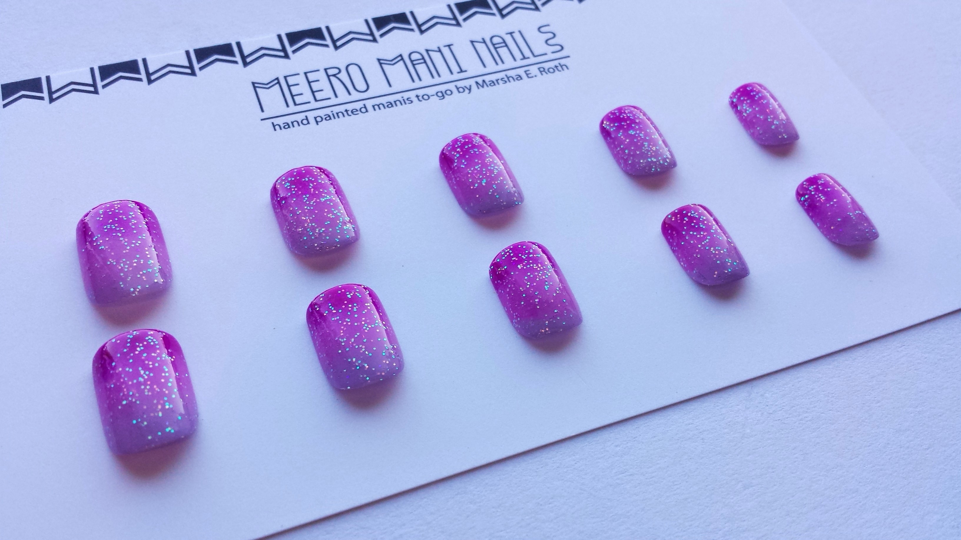 Purple Princess Press On False Nails · MEERO MANI NAILS · Online ...