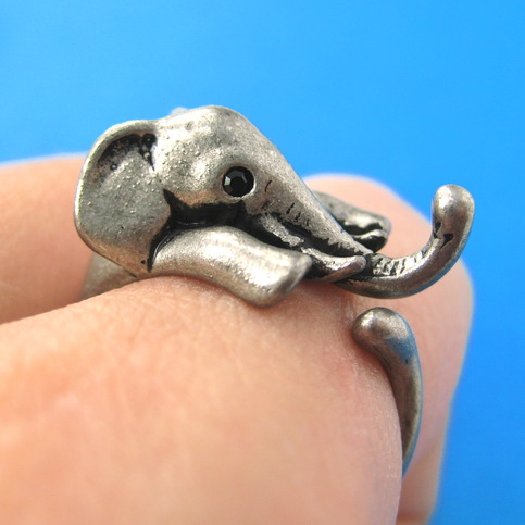 Elephant Wrap Around Ring In Silver For Men And Women