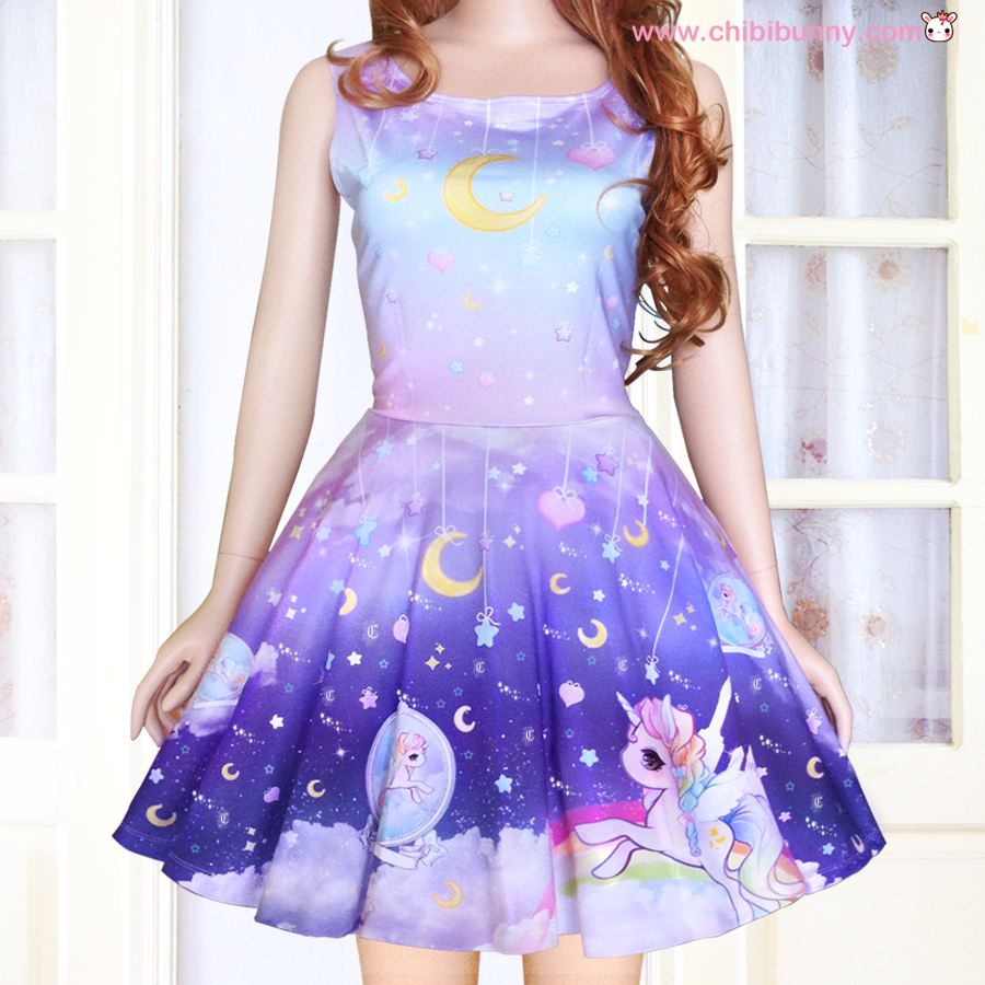 Galaxy unicorn - Cute kawaii skater dress and skirt - SD6 · Chibi ...