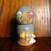 Kokeshi Doll #80 Pastel Cloud