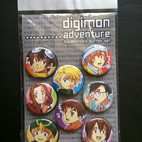 Digimon Adventure button set
