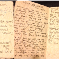 Handwritten Lyric Book - The Undertow