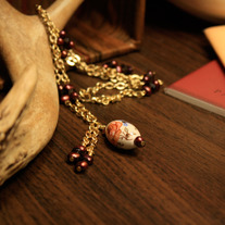 The Blood Countess Ceramic and Pearl Necklace