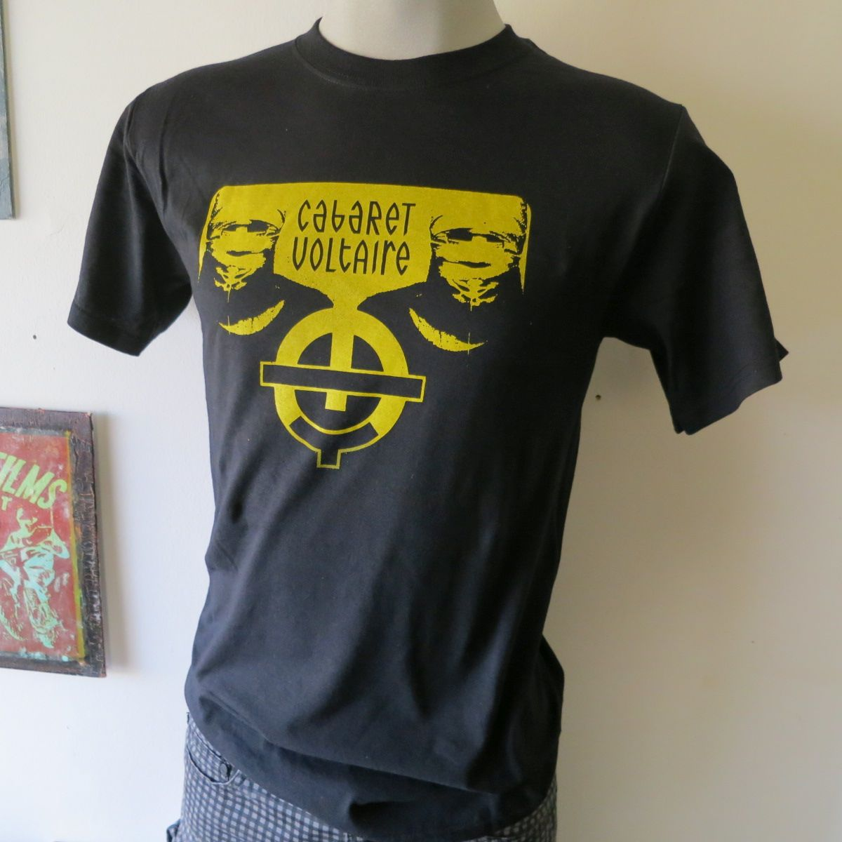 Cabaret voltaire tee t shirt screen print short sleeve for Vintage screen print t shirts