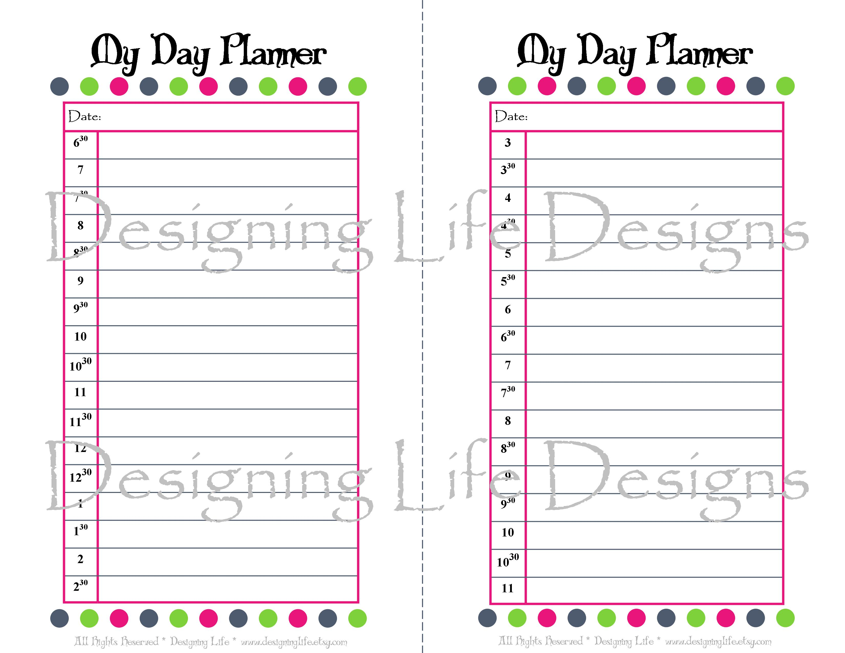 ... 494kB, Printable Daily Planner Pages 2014 This 46 half sheet printable