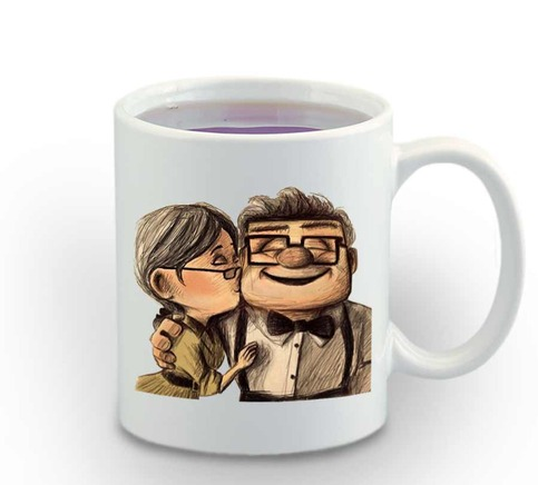 Disney Pixar Carl And Ellie Up Up Disney Mug 11oz