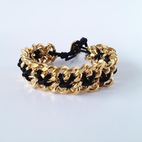 Black thread chain bracelet