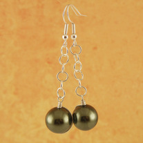 Green Pearl Seedling Earrings
