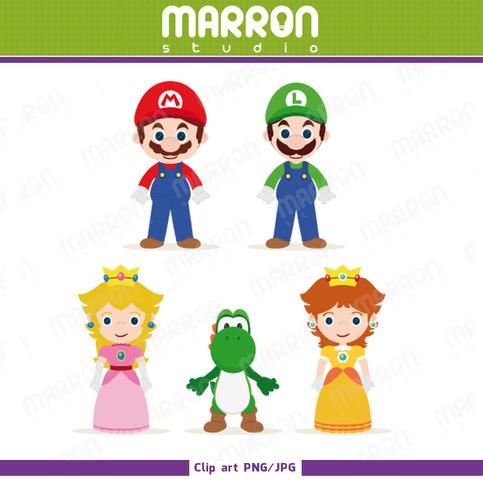 Mario Brothers Inspired Set Mario Luigi Yoshi Princess