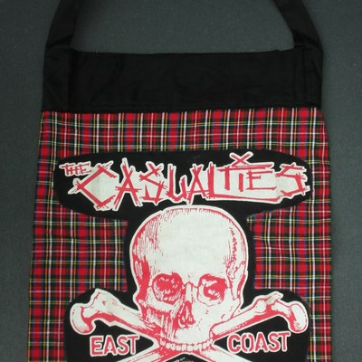Casualties red plaid tote one of a kind