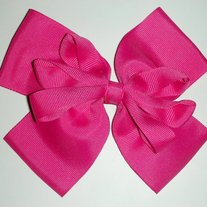 Vintage 1990s Oversized Hot Pink Bow