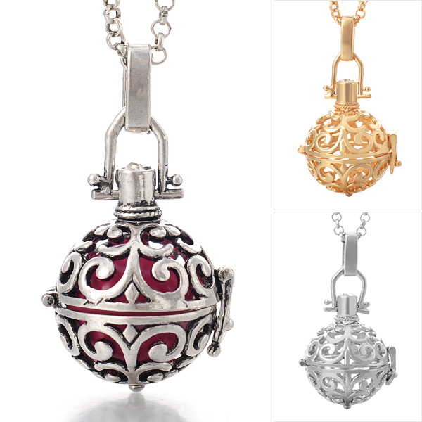 Angel callerharmony ball necklace intricate design happiheart angel callerharmony ball necklace intricate design mozeypictures Choice Image