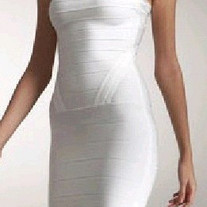 """Mary White"" Bandage Dress"