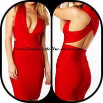 """DivaBoo"" Vamp Bandage Dress"