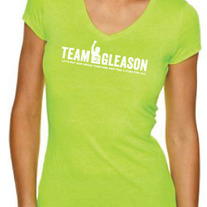TG Brand Bright Green V-neck Ladies