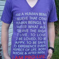 I AM PRO-LIFE V-Neck Purple