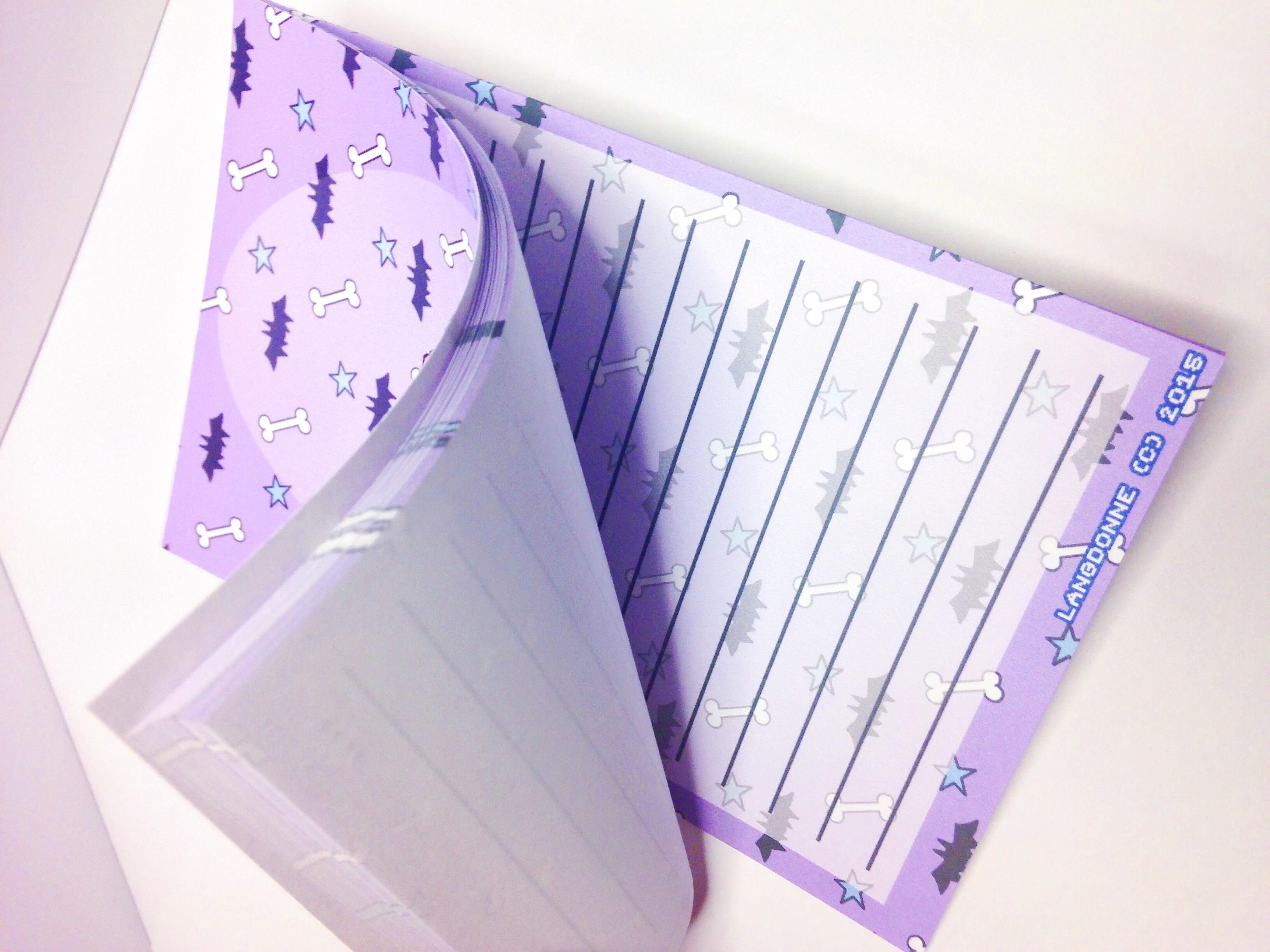 ... Bats U0027Nu0027 Bones Pastel Goth Stationery Memo Note Pad   Thumbnail ...