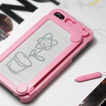 Magnetic Drawing Pad Back iPhone Case w/Built In Stylus