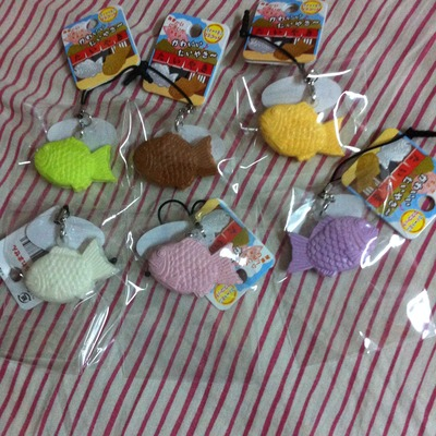 ~SquishyStuff~ Small Colorful Japanese Taiyaki Fish Squishy Set of 6 Online Store Powered by ...