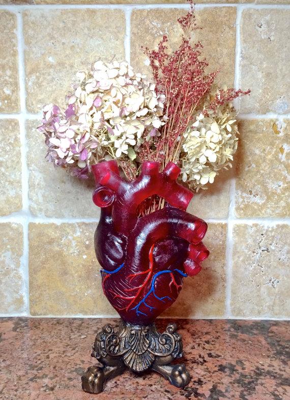 Translucent Red Anatomical Heart Vase Lesquelet Online Store