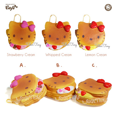 Hello kitty cream pancake squishy | lovely sweets cafe (licensed)
