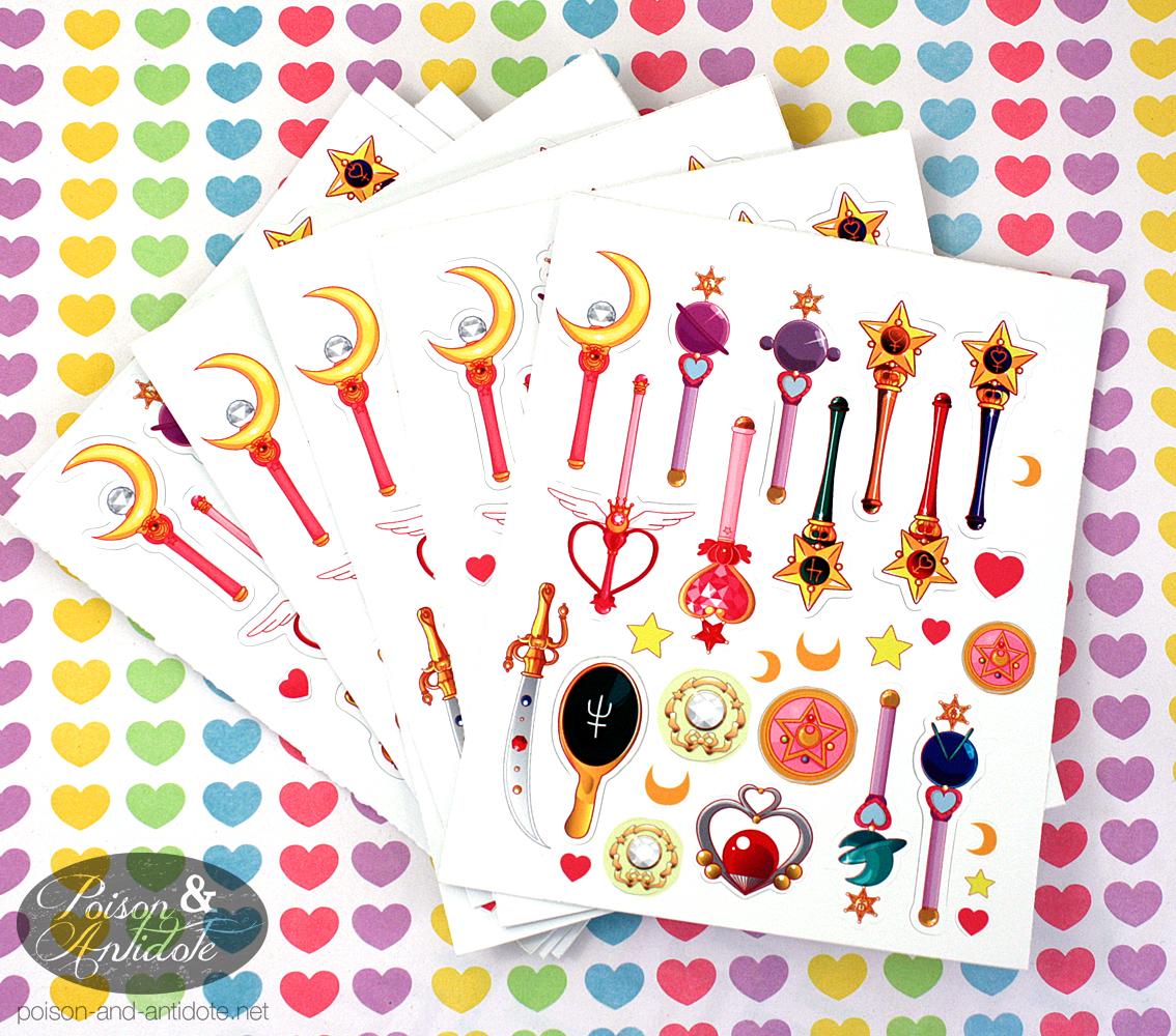 photo regarding Printable Sticker Sheets named Mini Sailor Moon Sticker Sheets against Poison Antidote