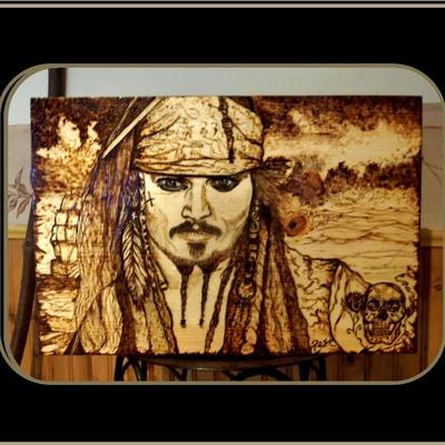 Johnny Depp Man CavePirates Of The CarribbeanWood Burned Art Pyrography Wood Plaques Artistic Creations By Rose Online Store Powered