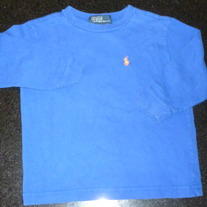 Long Sleeve Blue Shirt-Polo Ralph Lauren Size 24 Month