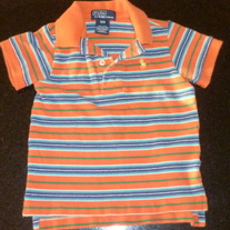 Orange/Blue Stripe Polo Shirt-Polo Ralph Lauren Size 12 Months